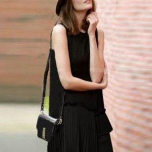 NWT Rebecca Taylor Crepe Pleated Dress